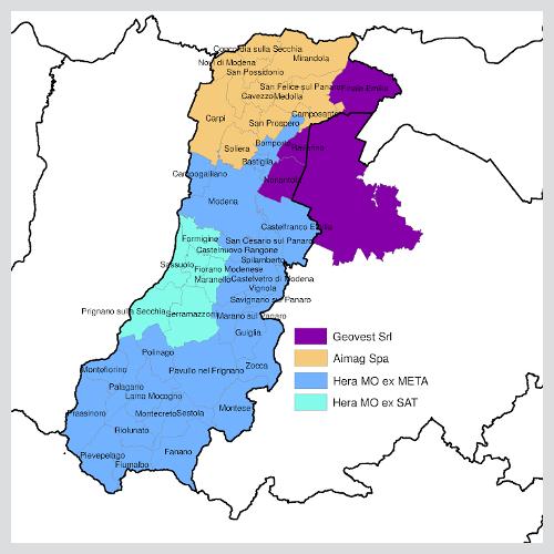 Territorio provinciale di modena atersir for Negozi arredamento modena e provincia